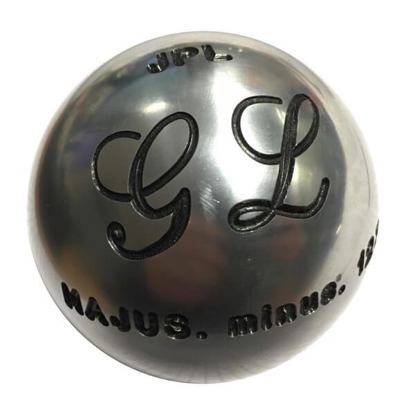 Gravure stylisée d'une boule de pétanque