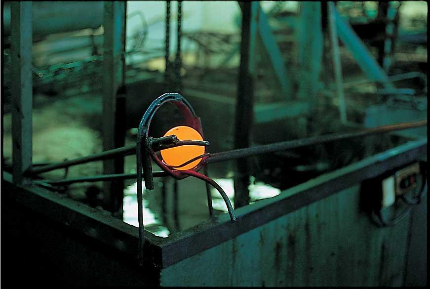 Trempage des boules de pétanque