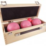 Coffret en bois La Boule Bleue - collection rose