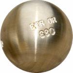 Boule ETR or bronze de la marque de boules de pétanque Unibloc