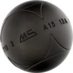 Boule de pétanque pour joueur de type pointeur Stra acier avec stries de Ms Pétanque