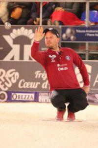 Ludovic Montoron champion de pétanque pointeur