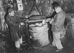Fortuné et Marcel Rofritsch Dirigeants de La Boule Bleue