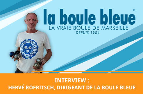 photo d'Hervé Rofritsch de La Boule Bleue interview pour la gazette de la pétanque
